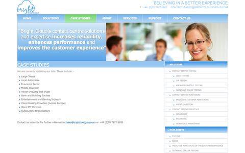 Screenshot of Case Studies Page brightcloudgroup.com - CASE STUDIES - captured Sept. 30, 2014