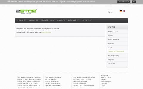 Screenshot of Terms Page zstor.de - Terms & Conditions   Unternehmen-Zstor GmbH - Open Storage - captured Oct. 20, 2018