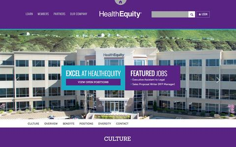 Screenshot of Jobs Page healthequity.com captured Dec. 8, 2015