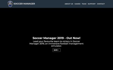 Screenshot of About Page soccermanager.com - Soccer Manager Ltd Corporate - captured Nov. 7, 2018