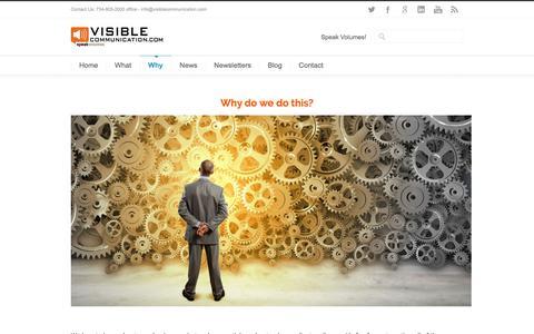 Screenshot of Testimonials Page visiblecommunication.com - Visible Communication Why - Visible Communication - captured Feb. 14, 2016