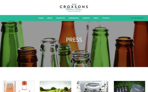 Screenshot of Press Page croxsons.com - Croxsons // Press - captured May 23, 2017