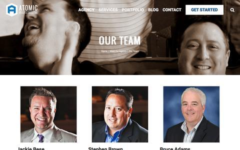 Screenshot of Team Page atomicdc.com - Design/Development Team - Dallas Internet Marketing Agency | Atomic DC - captured Nov. 21, 2016
