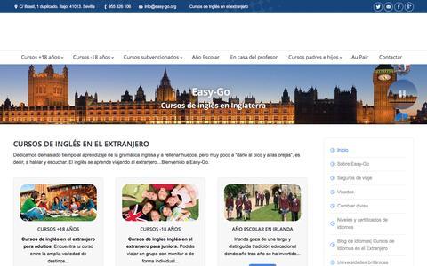 Screenshot of Home Page easy-go.org - Cursos de Inglés en el Extranjero | Estudiar Inglés en el Extranjero - captured May 14, 2017