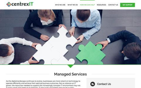 Screenshot of centrexit.com - Managed Services - centrexIT - captured March 19, 2016