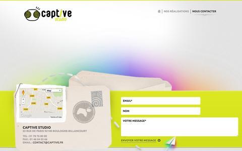 Screenshot of Contact Page captive-studio.com - Faisons plus ample connaissance :: Captive Studio - captured Sept. 29, 2014
