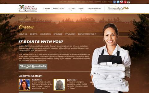 Screenshot of Jobs Page jacksoncasino.com - Careers - captured Sept. 19, 2014
