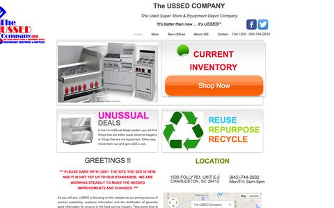 Screenshot of Home Page theussedcompany.com - THE USSED COMPANY, USED, RESTAURANT EQUIPMENT, CHARLESTON SC - captured Oct. 9, 2014