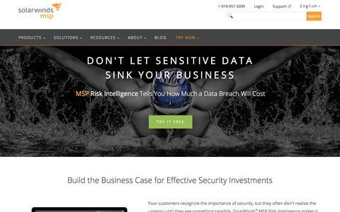 MSP Risk Intelligence | SolarWinds MSP