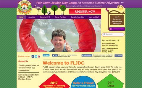 Screenshot of Home Page fairlawncamp.com - Fair Lawn Jewish Day Camp   Bergen County NJ - captured Nov. 24, 2016