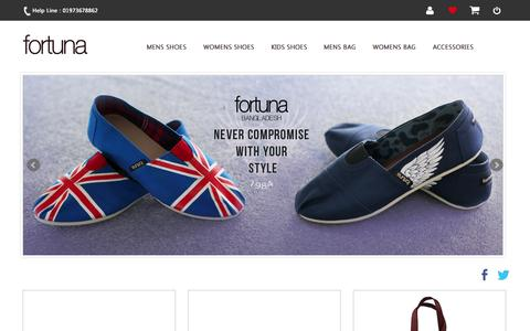 Screenshot of Home Page fortunabangladesh.com - Online Shoe Shopping, Leather Bag Sale - FortunaBangladesh - captured Jan. 26, 2015