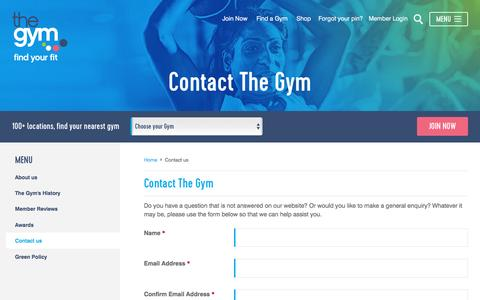 Contact The Gym | The Gym Group