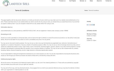 Screenshot of Terms Page landtechsoils.co.uk - Terms & Conditions - Landtech Soils Ltd - captured Sept. 27, 2018