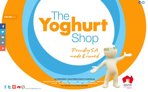 Screenshot of Home Page theyoghurtshop.com.au - Welcome to the Yoghurt Shop! - captured Oct. 9, 2014