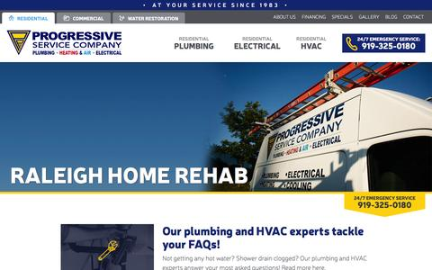 Screenshot of Blog callprogressive.com - Raleigh Home Improvement Tips | Progressive Blog - captured Feb. 1, 2016