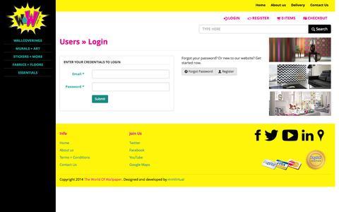 Screenshot of Login Page theworldofwallpaper.com - Users - Login | The World Of Wallpaper - captured Oct. 7, 2014