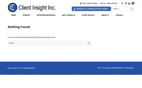 Screenshot of Blog clientinsight.ca - Blog | Client Insight | Client Insight specializes in gathering meaningful, interview-based customer/stakeholder feedback - captured Jan. 29, 2016