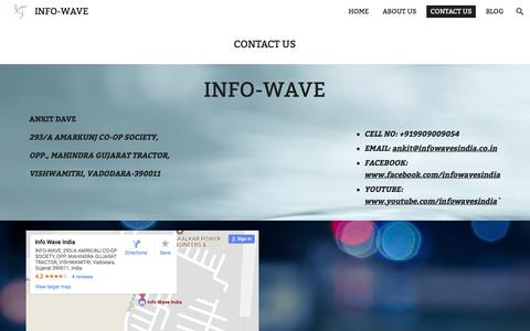 Screenshot of Contact Page google.com - INFO-WAVE - CONTACT US - captured Oct. 15, 2017