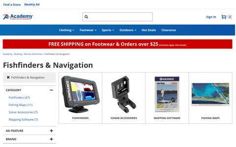 Fishfinders & Navigation | Depth Finders, Chartplotters, Sonar Accessories | Academy
