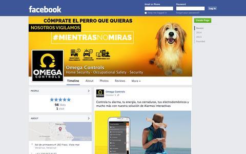 Screenshot of Facebook Page facebook.com - Omega Controls - Home Security, Occupational Safety   Facebook - captured Oct. 29, 2014