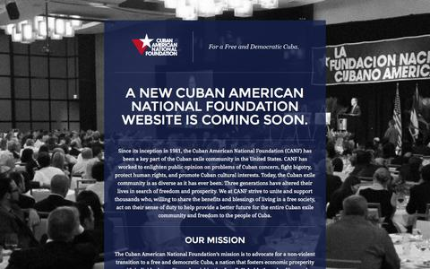 Screenshot of Contact Page canf.org - Cuban American National Foundation | For a Free and Democratic Cuba. - captured Oct. 3, 2014
