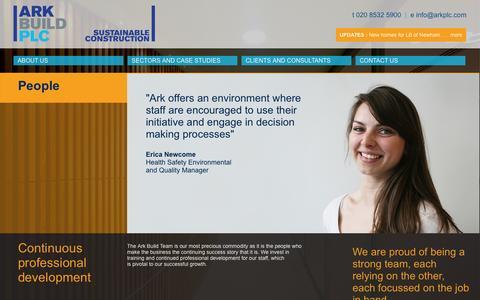Screenshot of Team Page arkplc.com - Ark Build - People - captured Nov. 2, 2014
