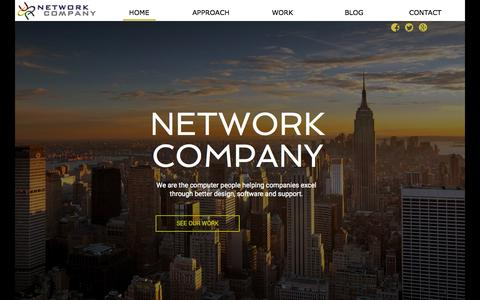 Screenshot of Home Page networkcompany.net - Microsoft Networking Cisco Exchange Cloud Small Business Hyper-v Licensing - Network Company - Columbus, Oh - captured Aug. 15, 2015