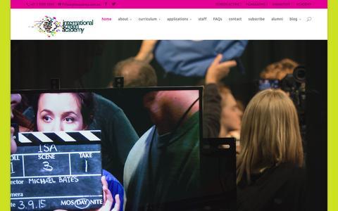 Screenshot of Home Page isasydney.com.au - International Screen Academy   screen acting   filmmaking   animation - captured Feb. 11, 2016