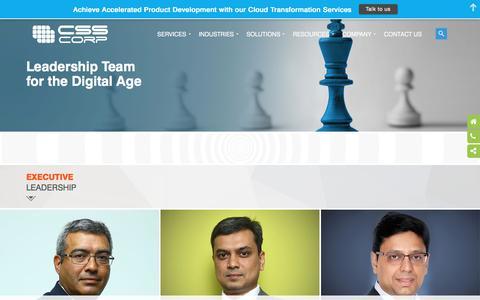 Screenshot of Team Page csscorp.com - CSS Corp   Management Team - captured Nov. 1, 2017