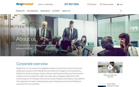 About RingCentral - Corporate Overview and Information