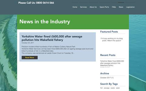 Screenshot of Press Page wamuk.com - Wasterwater Management & Treatment News | Rossendale | WAM UK - captured Nov. 7, 2018