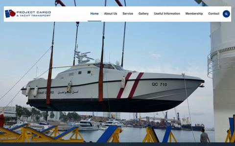 Screenshot of Home Page project-yacht.com - Project Cargo & Yacht Transport - captured Sept. 30, 2018