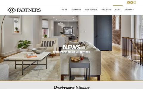 Screenshot of Press Page partnersinfo.com - News - Partners Development - captured Sept. 27, 2018