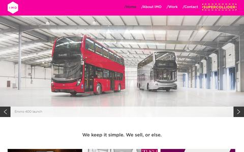 Screenshot of Home Page imo-agency.com - IMO Agency | A Digital Advertising Agency based in Birmingham - captured Nov. 18, 2016