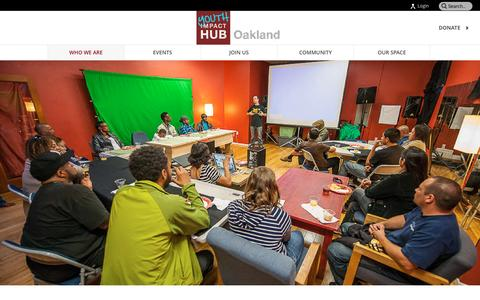 Screenshot of About Page youthhuboakland.net - About Us - Youth Impact HUB Oakland - captured March 26, 2016