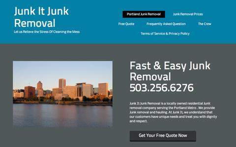 Screenshot of Home Page junkitportland.com - Fast & Easy Portland Junk Removal Service- - captured Sept. 19, 2015