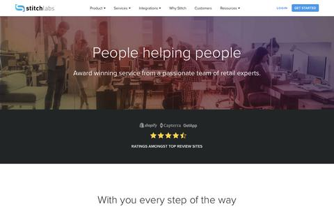 Screenshot of Services Page stitchlabs.com - Customer Success | Stitch Labs - captured Jan. 18, 2018