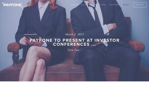 Screenshot of Press Page payfone.com - Press  | Payfone - captured Feb. 26, 2016
