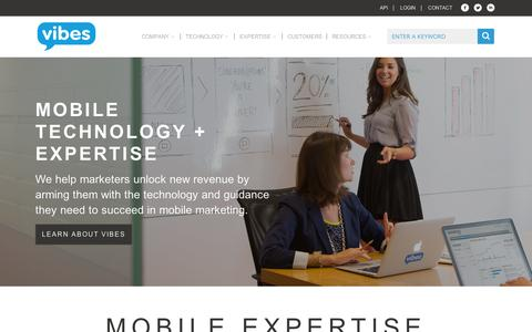 Screenshot of Terms Page vibes.com - Vibes   Mobile Marketing Solutions - captured Sept. 11, 2014