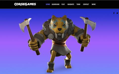 Screenshot of Home Page corsegames.com - CORSEGAMES - captured July 9, 2016