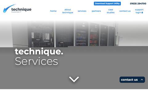 Screenshot of Services Page technique.eu - Services - Technique - captured Oct. 20, 2018