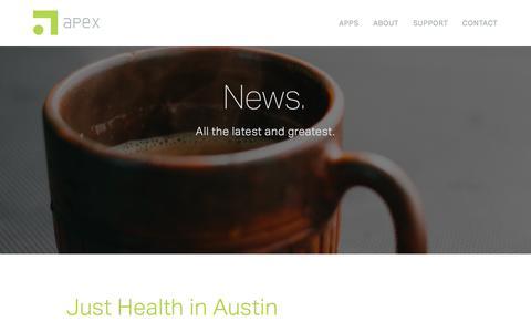 Screenshot of Press Page apexeval.org - Apex — News. - captured Feb. 6, 2016
