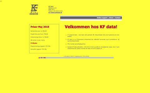 Screenshot of Home Page kfdata.dk - KF data - captured Oct. 14, 2018