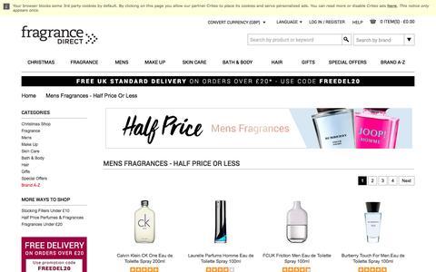 Mens Fragrances - Half Price Or Less | Fragrance Direct