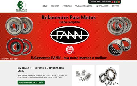 Screenshot of Home Page emtecorp.com.br - Home - EMTECORP - captured Dec. 15, 2018