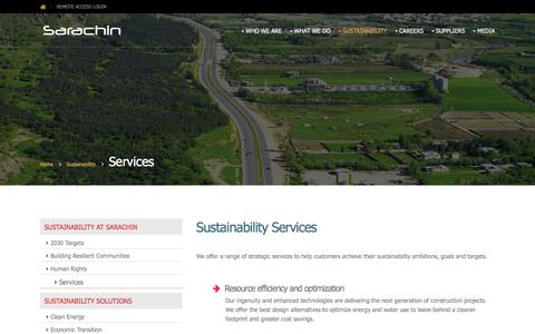 Screenshot of Services Page sarachin.com - Services - Sarachin - captured July 27, 2018