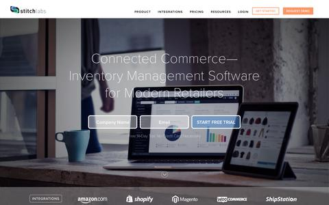 Screenshot of Home Page stitchlabs.com - Stitch Labs | Inventory Management Software - captured Aug. 21, 2016