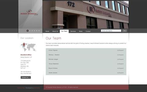 Screenshot of Team Page boddy-ryerson.com - Our Team - Boddy-Ryerson LLP - captured Nov. 22, 2016