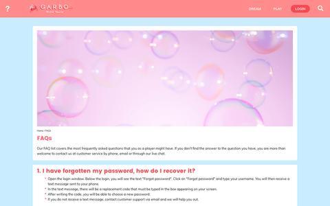 Screenshot of FAQ Page garbo.com - FAQs | GARBO.com - captured July 15, 2017