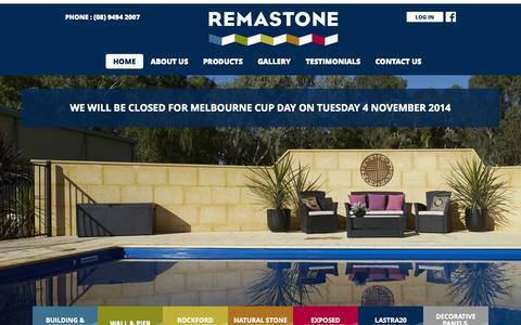 Screenshot of Terms Page remastone.com.au - Limestone Blocks & Retaining Walls | Remastone - captured Oct. 26, 2014